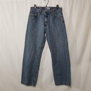 Levis straight leg blue jeans